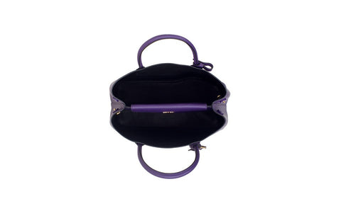 Prada BN2775 Saffiano Cuir Leather Tote in Viola