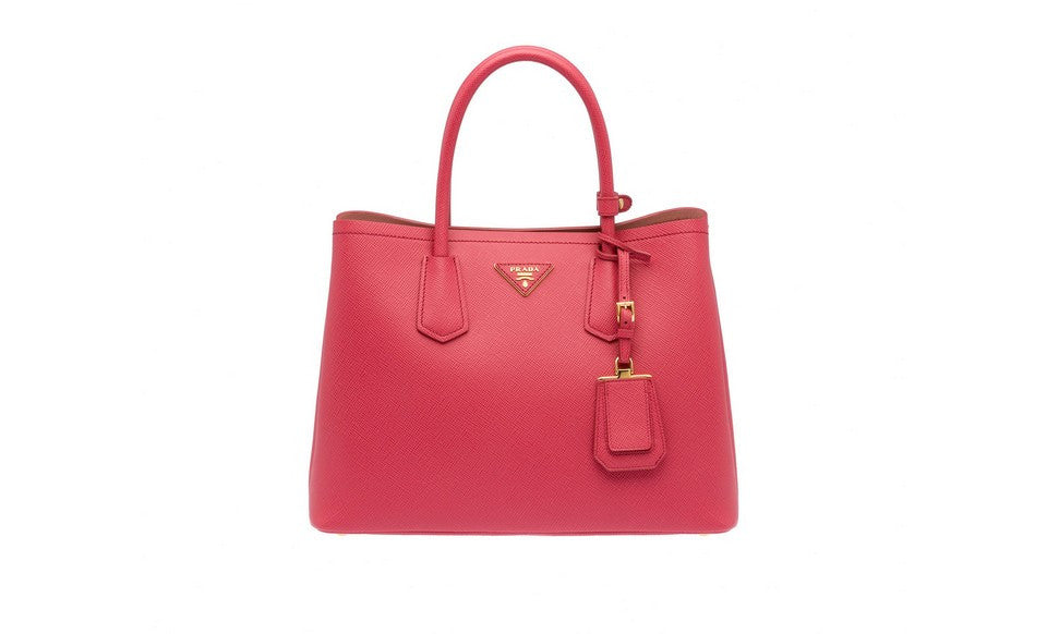 Prada BN2775 Saffiano Cuir Leather Tote in Tamaris