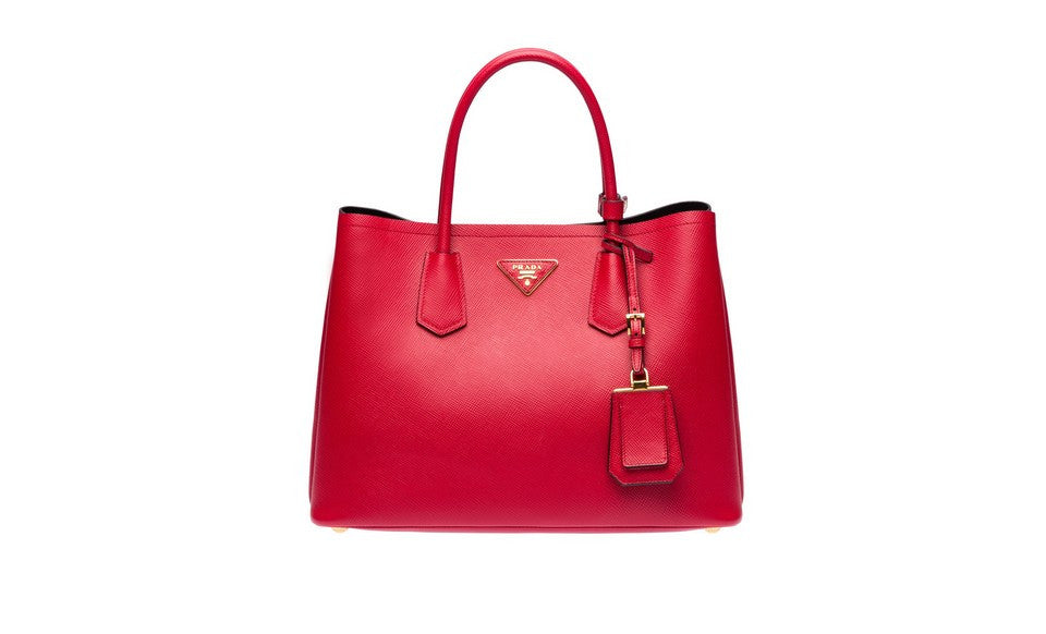 Prada BN2775 Saffiano Cuir Leather Tote in Fuoco Red