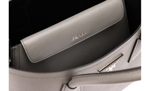 Prada BN2775 Saffiano Cuir Leather Tote in Marble