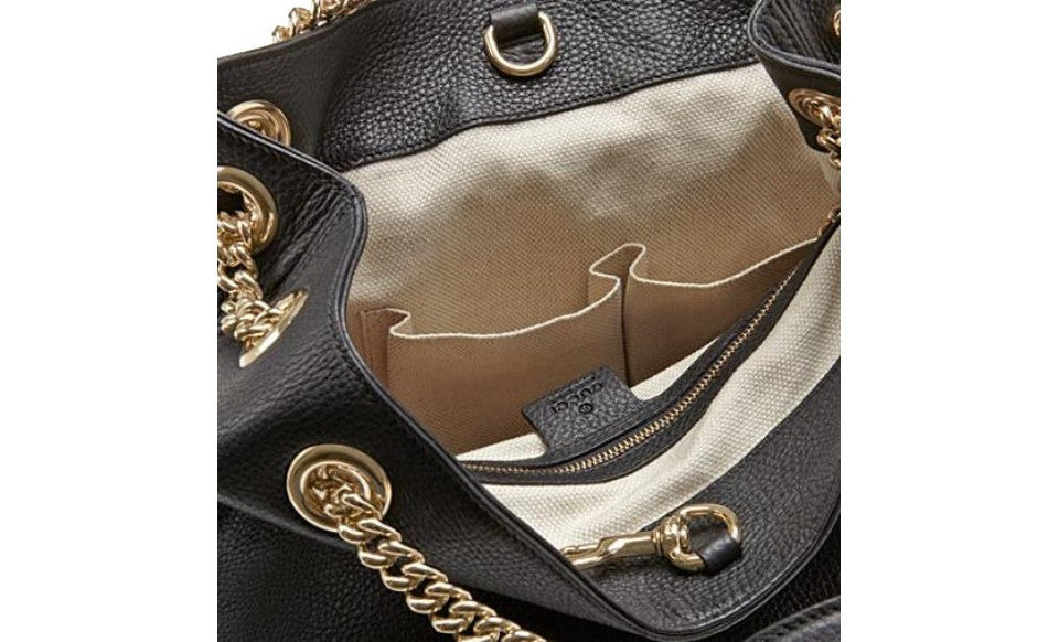 c5b2571394767 Gucci Soho Womens Purse in Black – SharkStores