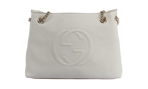 94d463348f736 Gucci Soho Womens Purse in White
