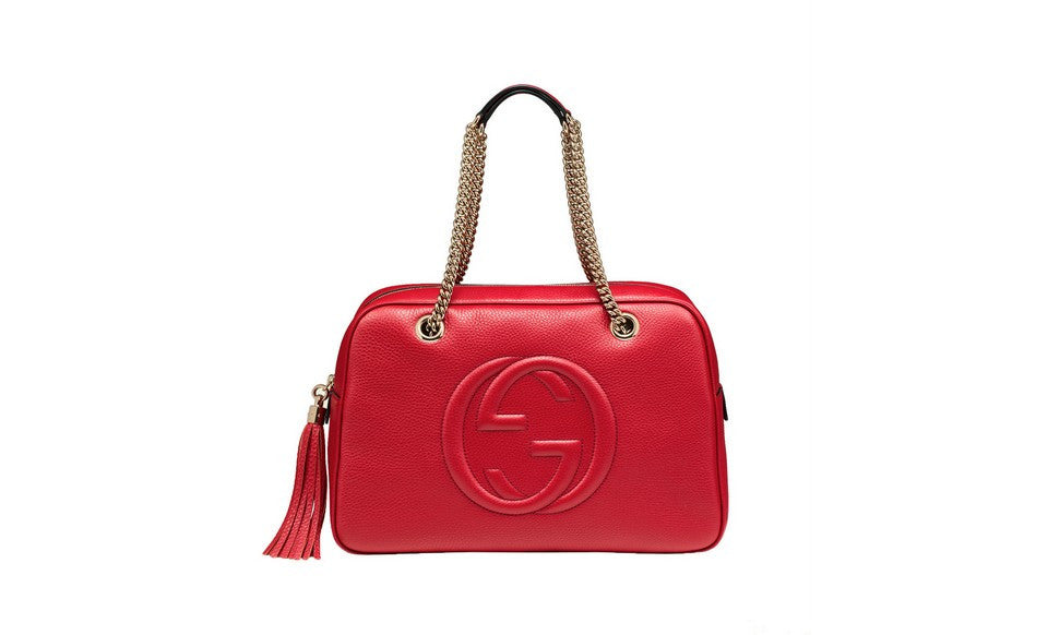 Gucci Soho Womens Purse in Red