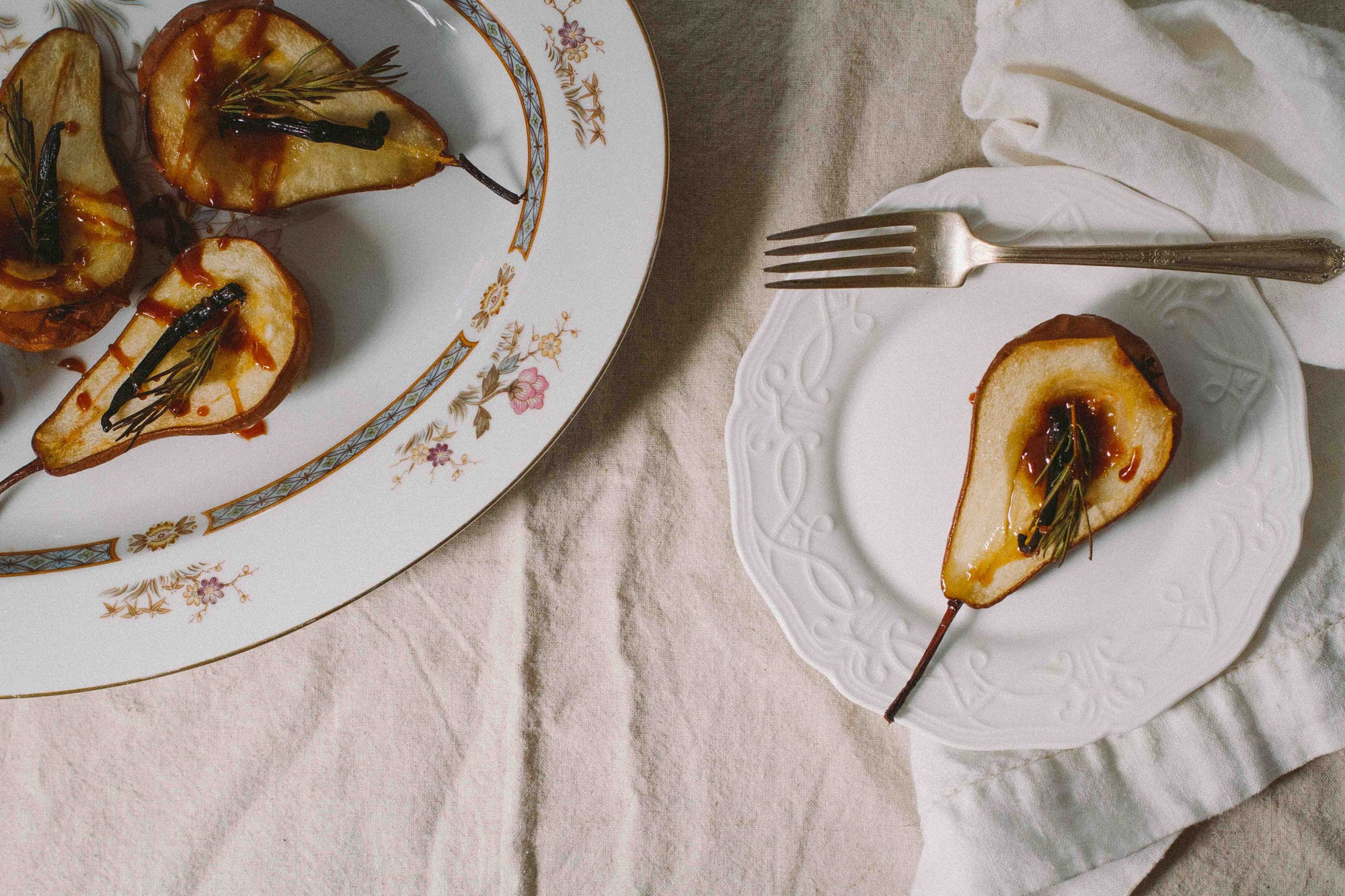 Roasted Orange Pears with Aromatic Bitters