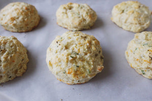 Cheddar & Chive Scones with Icelandic Flake Salt