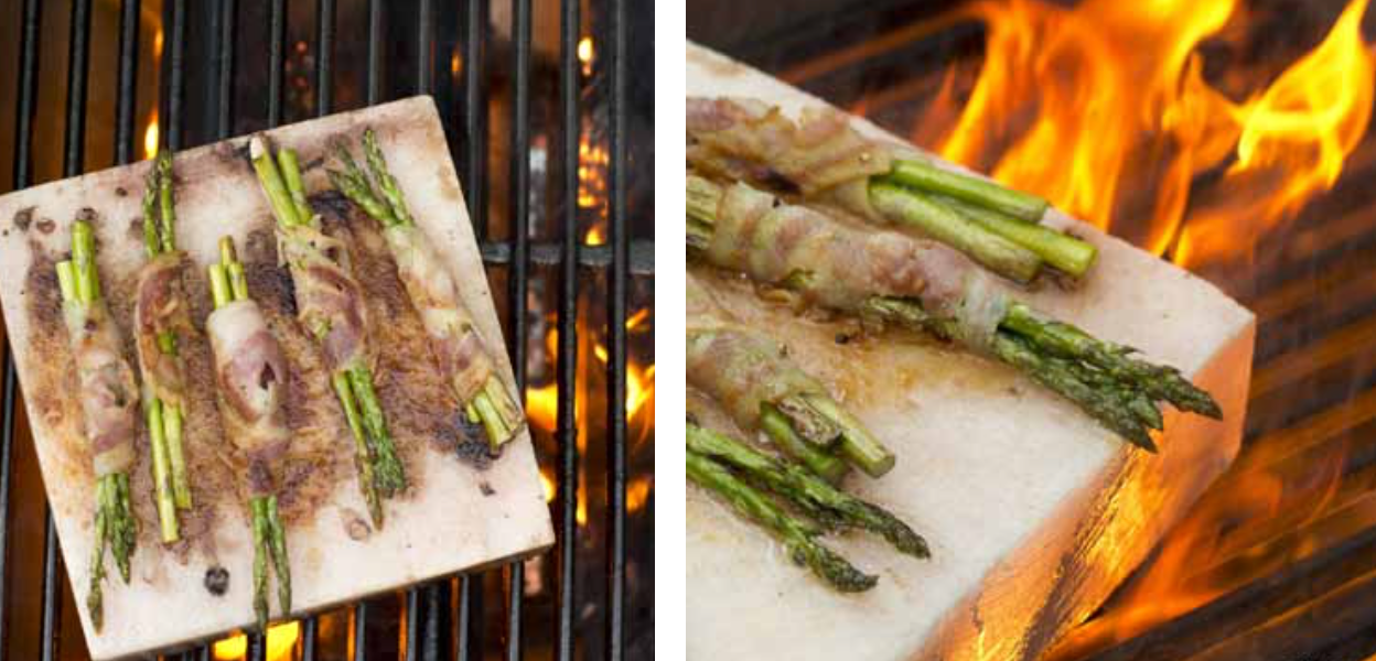 Salt Block Grilled Asparagus