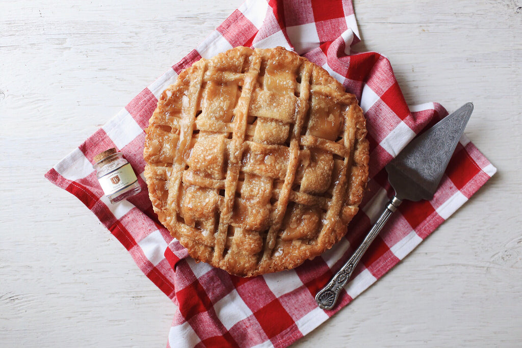 Salted Caramel Apple Pie with Bitterman's Fleur de Sel