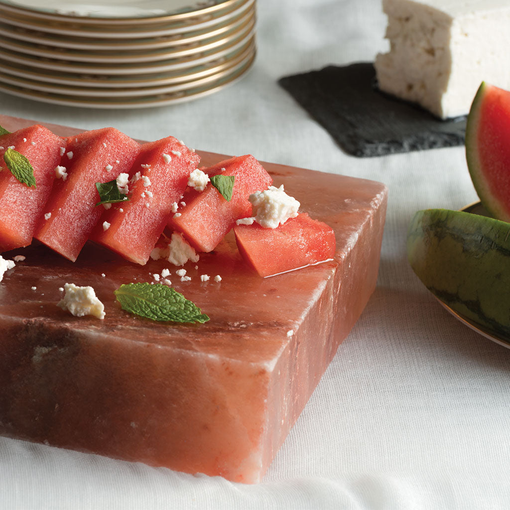 Salt Block Cooking | Watermelon & Feta Salad by Mark Bitterman