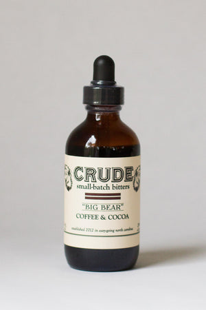 "Crude Coffee & Cocoa ""Big Bear"" Bitters-Bitters, Syrups and Shrubs-The Meadow"