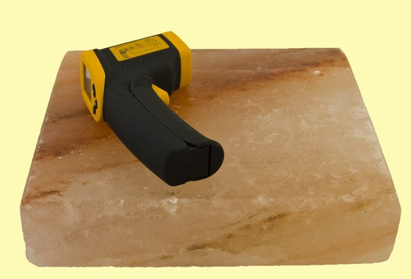 "Himalayan Salt Block 8x8x2"" + Infrared Thermometer Combo"
