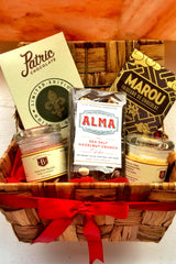 Salty n Sweet Gift Basket - Gourmet Chocolate + Craft Infused Salts
