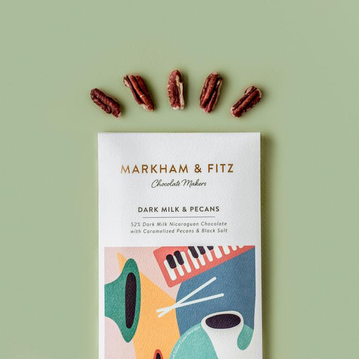Markham & Fitz 52% Dark Milk Chocolate with Southern Pecan