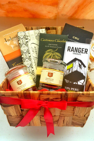 The Sweet Tooth Gift Basket - Extra Bountiful Gourmet Salt + Chocolate