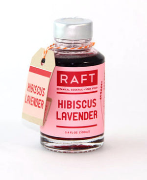 RAFT Hibiscus Lavender Syrup-Bitters, Syrups and Shrubs-The Meadow