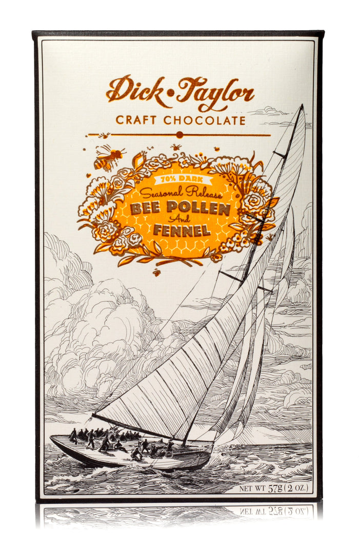 Dick Taylor Bee Pollen & Fennel 70% Dark Chocolate