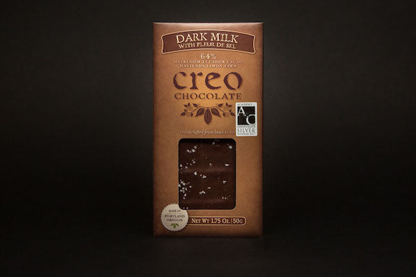 Creo Dark Milk Chocolate with Fleur de Sel-Chocolate-The Meadow