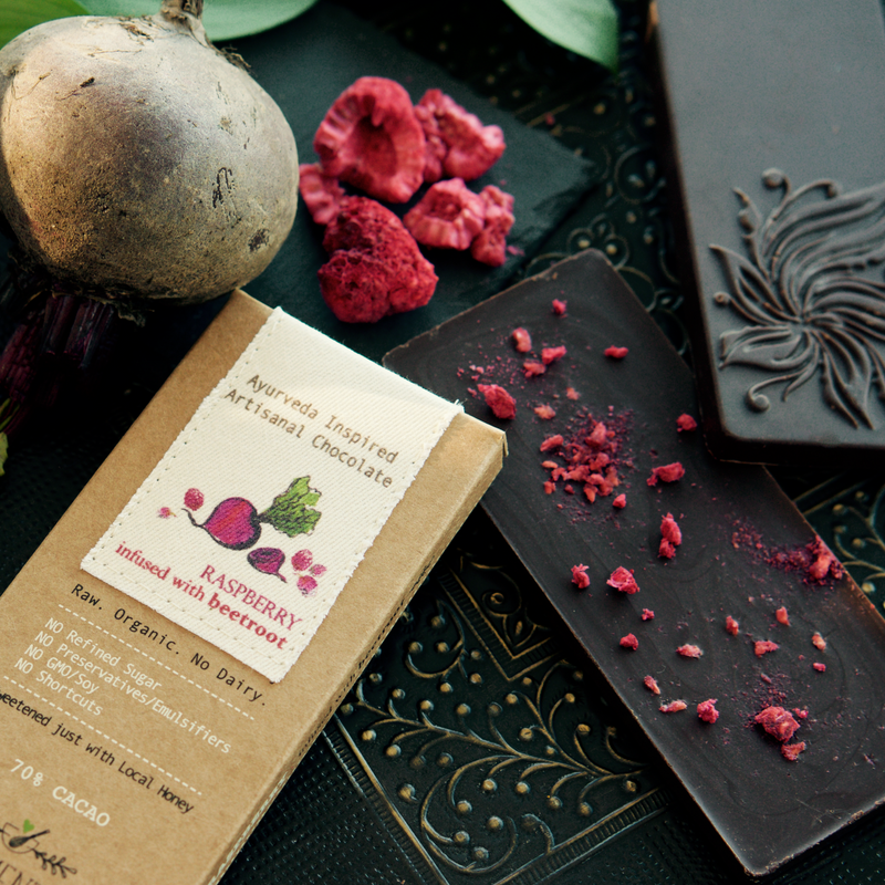 Elements Truffles Raspberry Beetroot Dark Chocolate