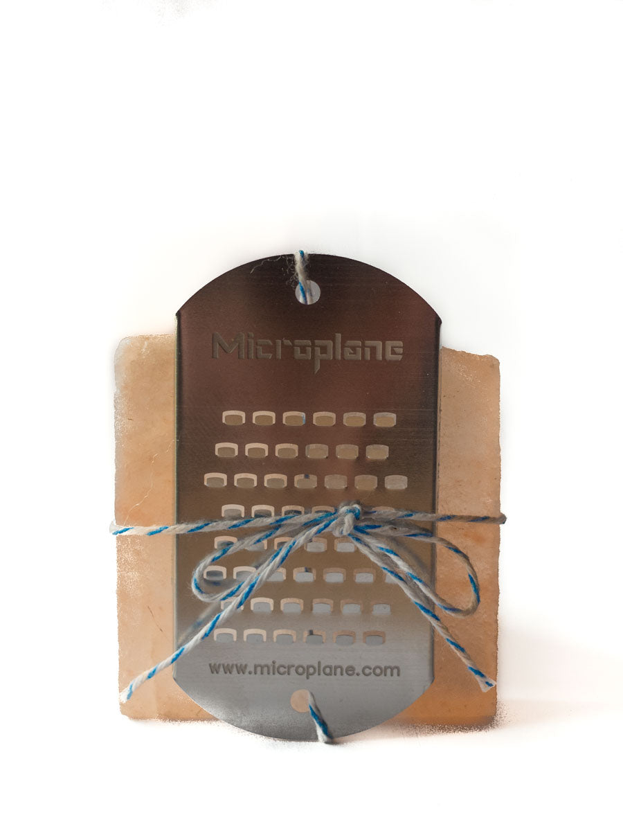 Himalayan Salt Block Cube + Microplane Grater-Himalayan Salt Block-The Meadow