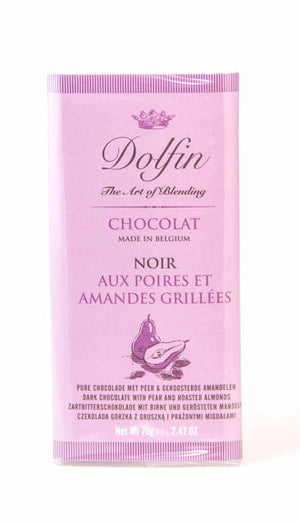 Dolfin 52% Dark Chocolate with Pears and Almonds-Chocolate-The Meadow