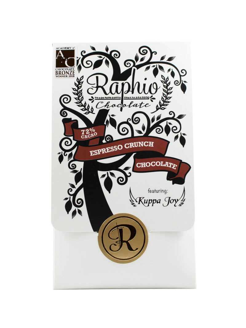 Raphio 72% Espresso Crunch Dark Chocolate