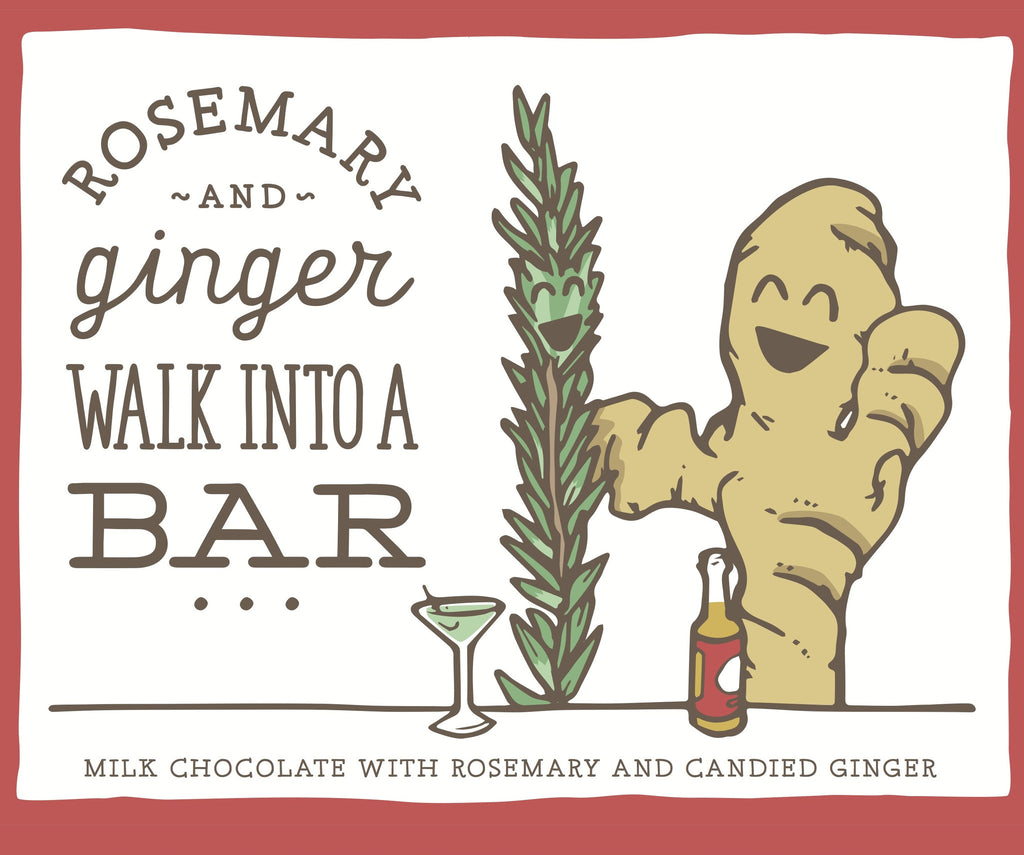 "Only Child ""Rosemary and Ginger Walk into a Bar"" Milk Chocolate with Rosemary and Candied Ginger-Chocolate-The Meadow"