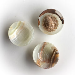 Meadow Onyx Salt Cellar
