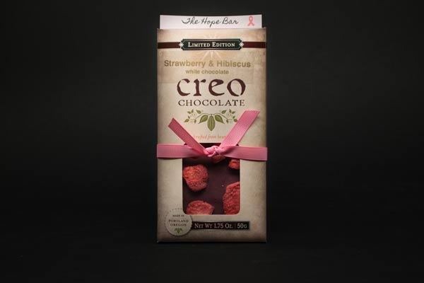 Creo Strawberry and Hibiscus White Chocolate