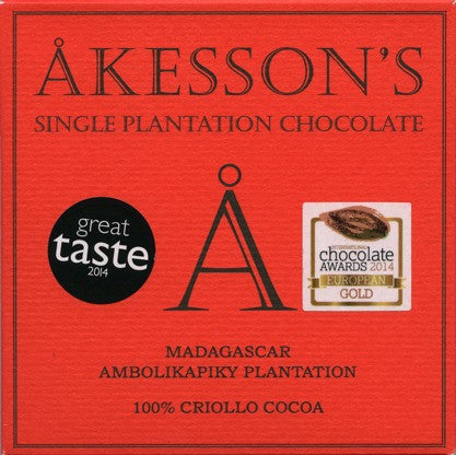 Akesson 100% Criollo Dark Chocolate