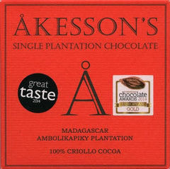 Akesson Criollo 100% Dark Chocolate