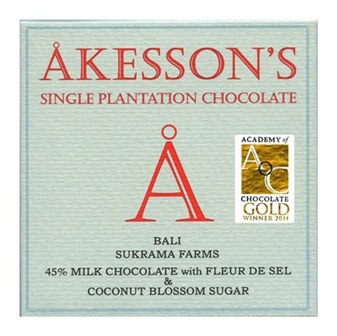 Akesson Bali Milk Chocolate with Fleur De Sel