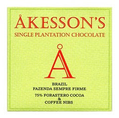 Akesson Brasil & Coffee Nibs Dark Chocolate
