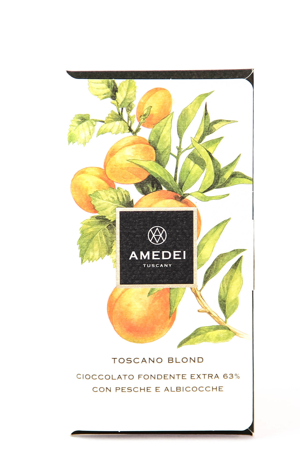 Amedei Toscano Blond 63% Dark Chocolate with Apricots and Peaches-Chocolate-The Meadow