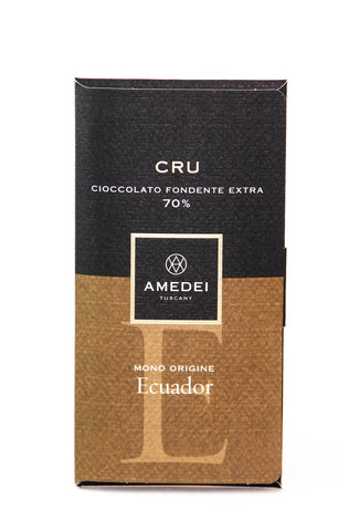 Amedei Ecuador Single Origin Cru - 70% Chocolate Bar