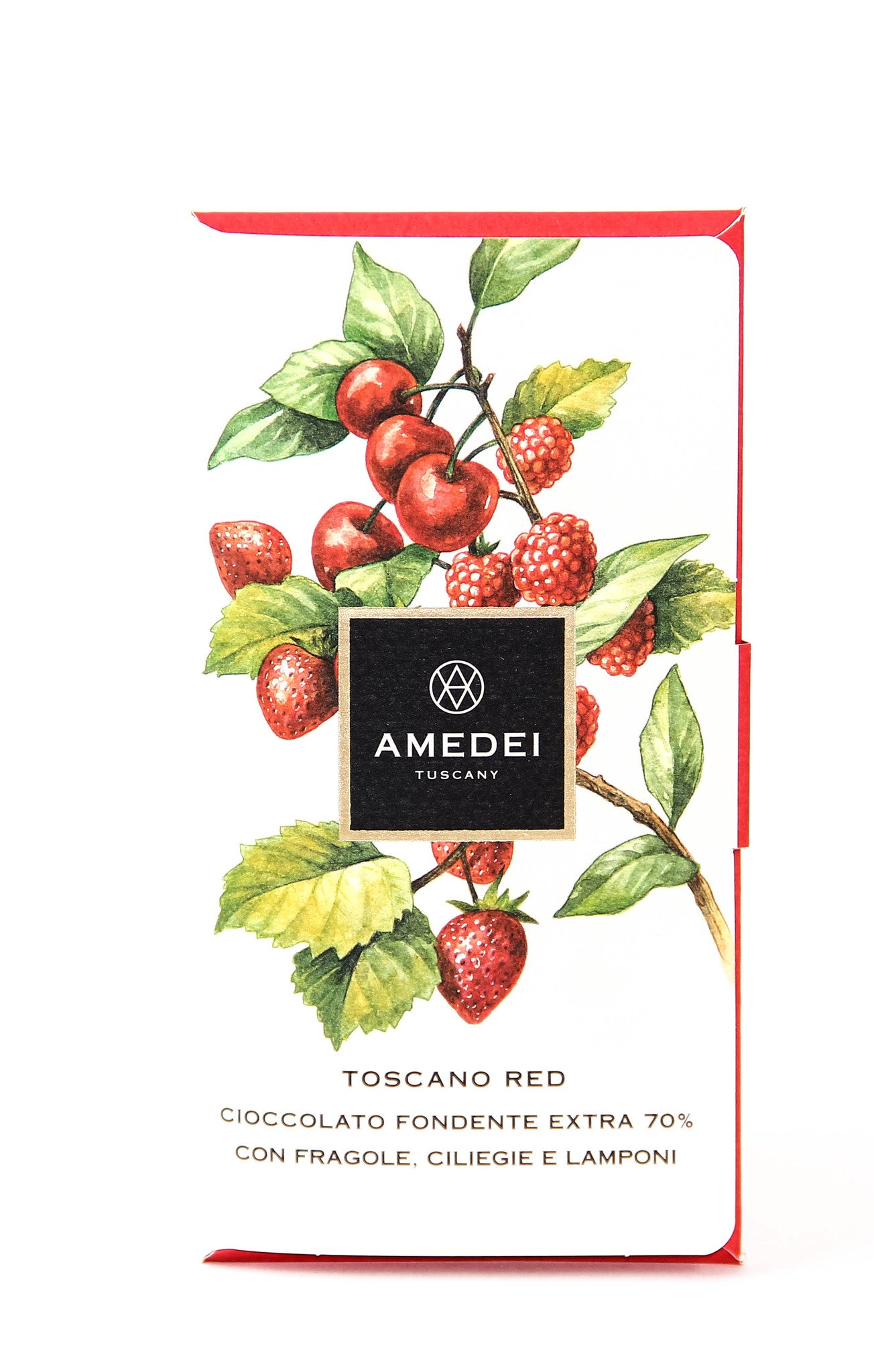 Amedei Toscano Red 70% Dark Chocolate with Cherries, Strawberries and Raspberries-Chocolate-The Meadow