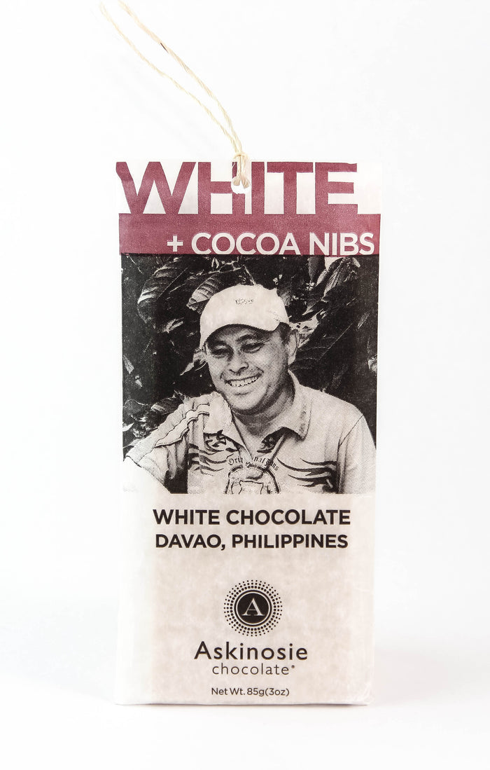 Askinosie Davao 34% White Chocolate with Nibs