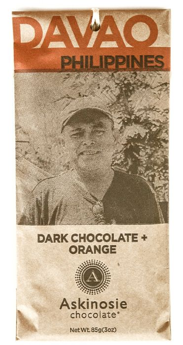 Askinosie Philippines 58% Dark Chocolate with Orange