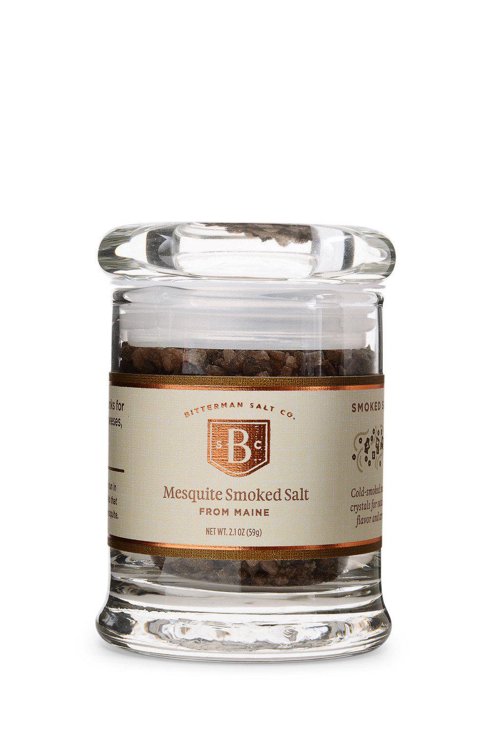 Atlantic Mesquite Smoked Sea Salt-Gourmet Salt-The Meadow