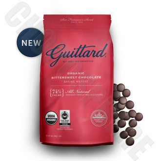 Guittard	Organic Bittersweet Chocolate Baking Wafers 12oz.