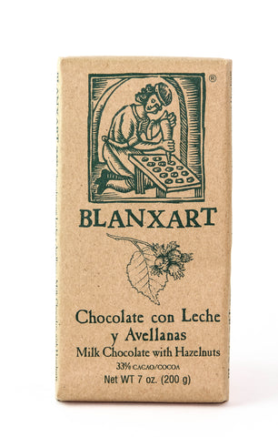 Blanxart Milk Chocolate with Hazelnuts