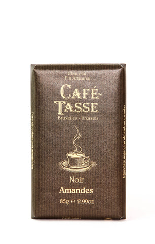 Cafe Tasse Dark Chocolate with Almonds
