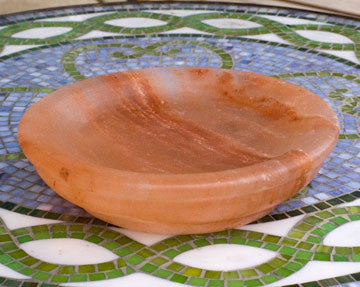 Himalayan Pink Salt Dish with Cookbook!-Himalayan Salt Block-The Meadow