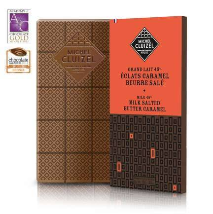 Michel Cluizel 45%  Milk Chocolate with Salted Butter Caramel