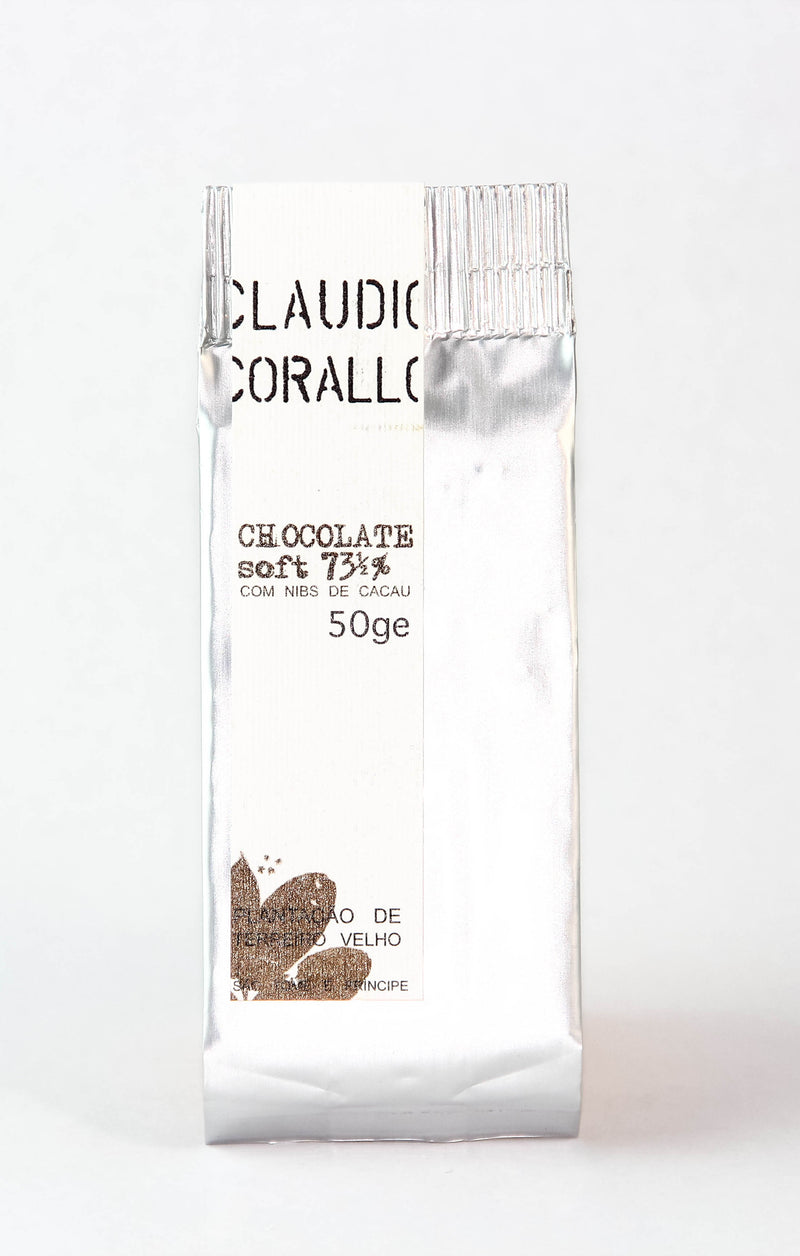 Claudio Corallo 73.5% Dark Chocolate with Nibs-Chocolate-The Meadow