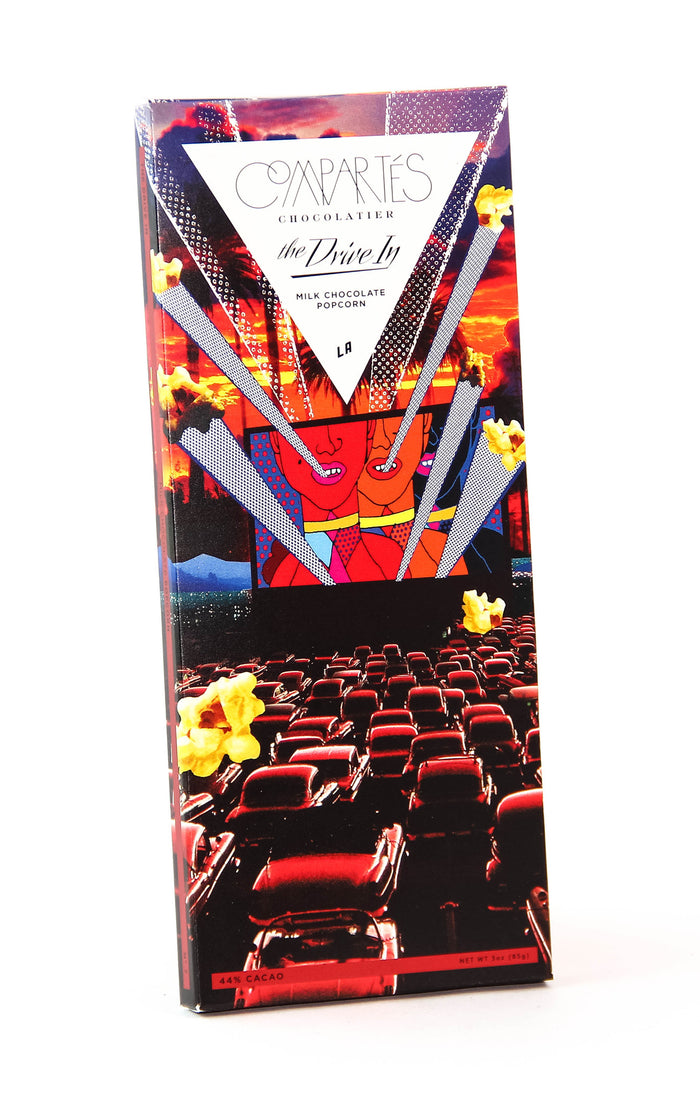 "Compartes ""The Drive In"" Milk Chocolate with Popcorn"