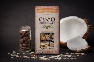 Creo 73% Dark Chocolate with Toasted Coconut-Chocolate-The Meadow