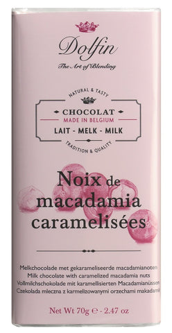Dolfin Milk Chocolate with Caramelized Macadamia