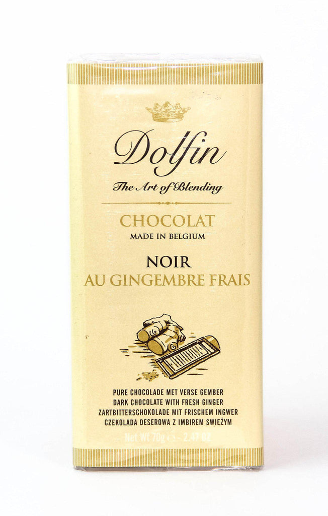 Dolfin 52% Dark Chocolate & Ginger