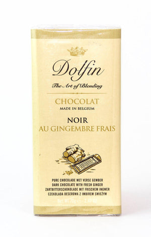 Dolfin 52% Dark Chocolate with Candied Ginger-Chocolate-The Meadow