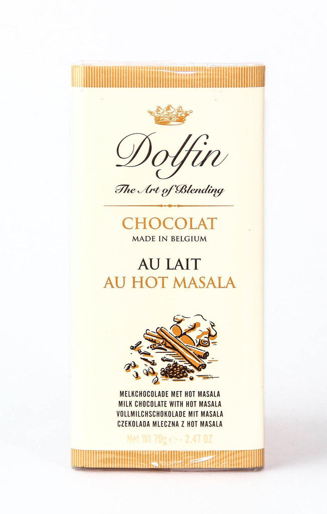 Dolfin Chocolat - Milk Chocolate Bar with Hot Masala