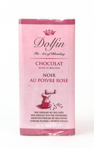 Dolfin 52% Dark Chocolate & Pink Peppercorns